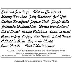 (TP3975EW)EMBOSSING Easy Emboss Christmas and Festive Seasonal W
