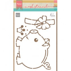(PS8027)Marianne Design Craft stencil: Piggybank by Marleen