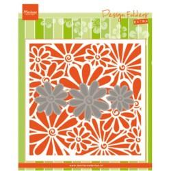 (DF3451)Marianne Design Folder + dies Daisies