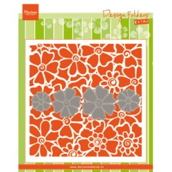 (DF3452)Marianne Design Folder + dies Poppies