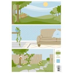 (AK0072)Eline's Cat & Dog Backgrounds
