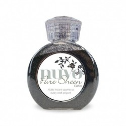 (706N)Tonic Studios Nuvo pure sheen glitter 100ml charcoal