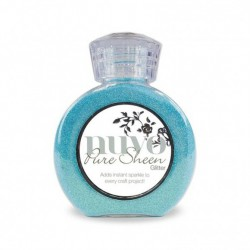 (714N)Tonic Studios Nuvo pure sheen glitter 100ml aqua