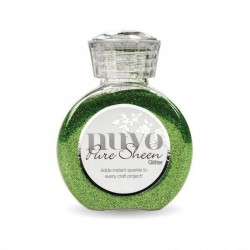 (717N)Tonic Studios Nuvo pure sheen glitter 100ml green meadow