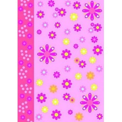 Pergamano vellum flower power pink