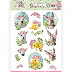 (SB10331)3D Pushout - Amy Design - Spring is Here - Baby Animals
