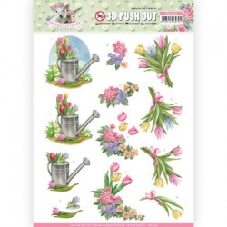 (SB10332)3D Pushout - Amy Design - Spring is Here - Tulips
