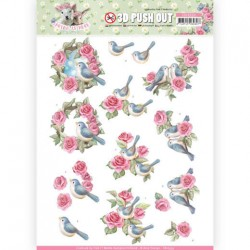 (SB10333)3D Pushout - Amy Design - Spring is Here - Birds and Roses