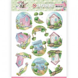 (SB10334)3D Pushout - Amy Design - Spring is Here - Garden Sheds