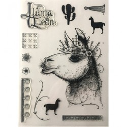 (PI013)Pink Ink Desings Llama Queen