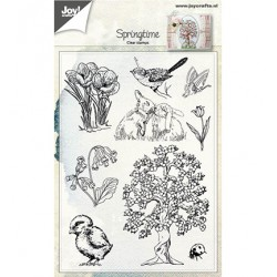 (6410/0482)Clear stamp Springtime