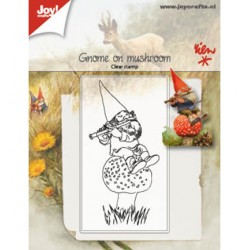 (6410/0506)Clear stamp Gnome on mushroom