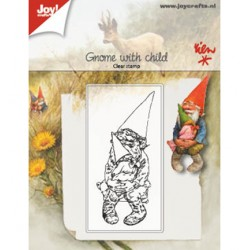 (6410/0511)Clear stamp Gnome with child