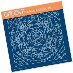 (GRO-FL-41181-03)Groovi Plate A5 TINA'S SYMMETRICAL FLORAL ROUND