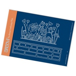 (GRO-FL-41198-02)Groovi® plate A6 ROSIE & BRICK WALL