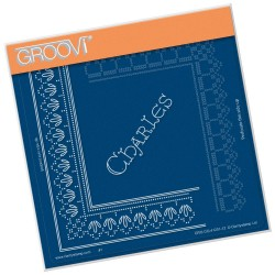 (GRO-GG-41201-12)Groovi Grid Piercing Plate CHARLES LACE FRAME CORNER DUET