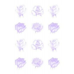 Pergamano vellum roses purple (62549)