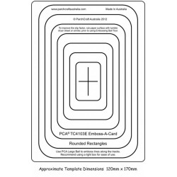 (PCA-TC4103E)Emboss-A-Card Rounded Rectangles