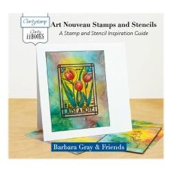 (ACC-BO-30668-XX)CLARITY II BOOK:ART NOUVEAU STAMPS & STENCILS
