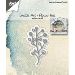 (6002/1246)Cutting dies Sketch Art - Flower Line
