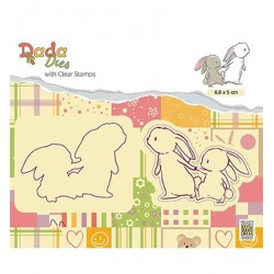 (DDCS008)Nellie's DADA Dies with stamp Walking with mama