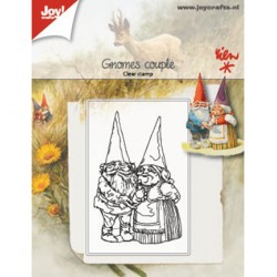 (6410/0509)Clear stamp Gnomes couple