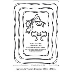 (PCA-TC4106E)Emboss-A-Card Ribbon Frames & Bow