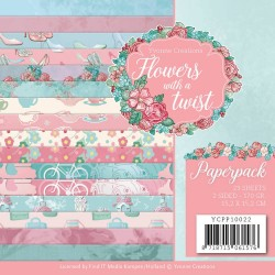 (YCPP10022)Paperpack - Yvonne Creations - Flowers with a Twist