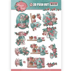 (SB10340)3D Pushout - Yvonne Creations - Flowers with a Twist - Tea Time