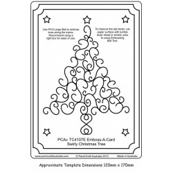 (PCA-TC4107E)Emboss-A-Card Swirly Christmas Tree