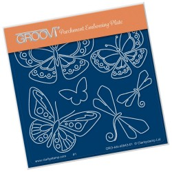 (GRO-AN-40943-01)Groovi® Baby plate A6 TINA'S BUTTERFLY FUN