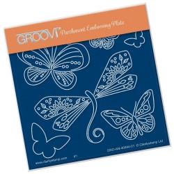(GRO-AN-40944-01)Groovi® Baby plate A6 TINA'S DRAGONFLY FUN