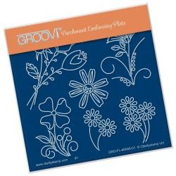 (GRO-AN-40945-01)Groovi® Baby plate A6 TINA'S FLOWER FUN