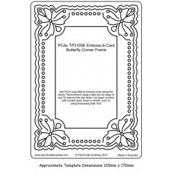 (PCA-TC4109E)Emboss-A-Card Butterfly Corner Frame