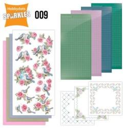 (SPDO009)Sparkles Set 9 - Birds and Roses