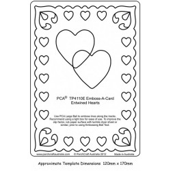 (PCA-TC4110E)Emboss-A-Card Entwined Hearts