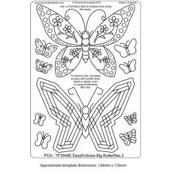 (TP3546E)PCA® - EasyEmboss Big Butterflies - 2