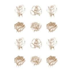 Pergamano vellum roses copper (62550)