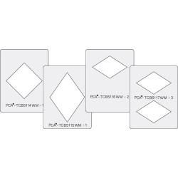 (PCA-TCB5100W)SMALL WINDOW MAKERS Set of 4 (Diamond Shapes) - C