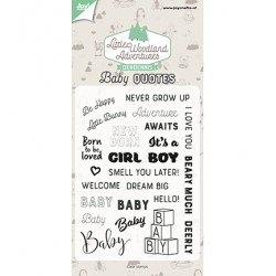 (6410/0515)Clear stamp Dendennis - Baby quotes (NL)