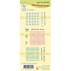 (55.5954)Clear Stamp Background Fabrics and Stitches