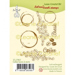 (55.5961)Clear Stamp Coffee Beans & Stains