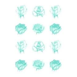 Pergamano vellum roses blue (62551)