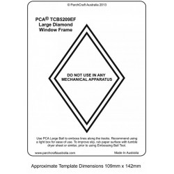 (PCA-TCB5209E)WINDOW FRAMES - Large Diamond