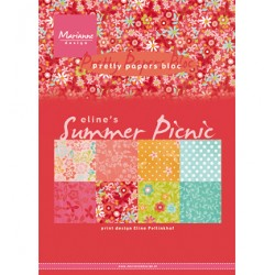 (PB7056)Pretty Papers bloc A5 Eline's Summer picnic