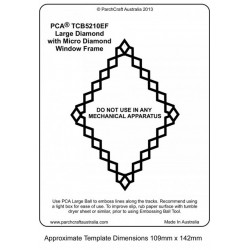 (PCA-TCB5210E)WINDOW FRAMES - Large Diamond with Micro Diamond Frame