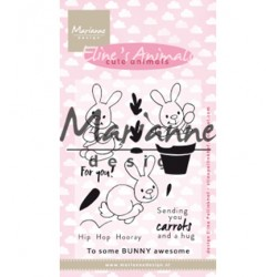 (ec0178)Clear Stamp Eline's cute animals – bunnies