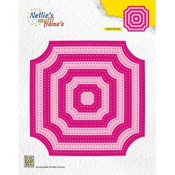 (MFD130)Nellie's Multi frame Dies Stiched Cornerless squares