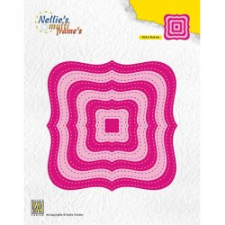 (MFD132)Nellie's Multi frame Dies Stiched Braced squares