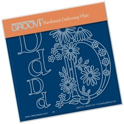 (GRO-FL-40247-01)Groovi® Baby plate A6 BARBARA'S FLORAL 000ALPHABET - D